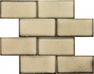 3×6 Knox Subway Pattern Polished Mosaic Tile by Soci