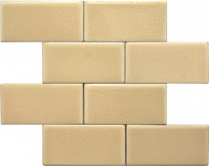3×6 Biscuit Subway Pattern Polished Mosaic Tile by Soci