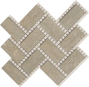 Hampton Blend Manhattan Pattern Polished Mosaic Tile by Soci