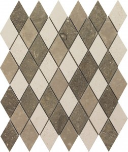 Nantucket Blend Harlequin Pattern Polished Mosaic Tile by Soci