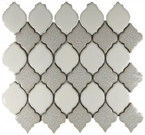 Linen Blend Valencia Pattern Polished Mosaic Tile by Soci