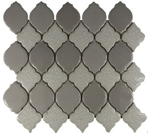Mist Blend Valencia Pattern Polished Mosaic Tile by Soci
