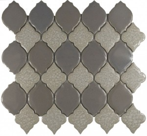 Nightfall Blend Valencia Pattern Polished Mosaic Tile by Soci