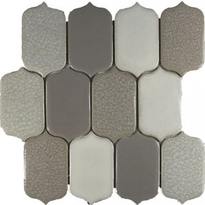 Parchment Blend Picket Pattern Polished Mosaic Tile by Soci