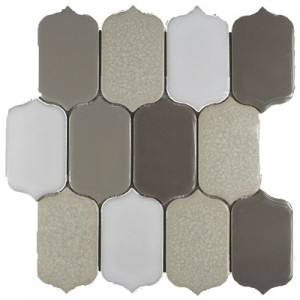 Raffia Blend Picket Pattern Polished Mosaic Tile by Soci