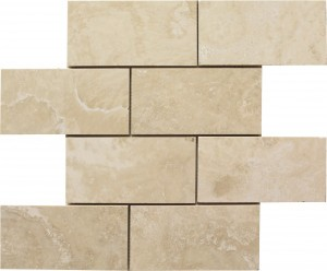 3×6 Ivory Straight Edge Subway Honed Mosaic Tile by Soci