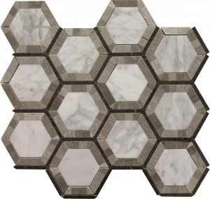 Quinland Blend Noble Pattern Polished Mosaic Tile by Soci