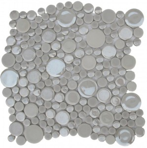 Palmer Bubbles Pattern Polished Mosaic Tile by Soci