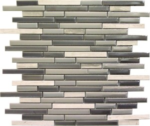 Zapata Linear Brick Pattern Polished Mosaic Tile by Soci