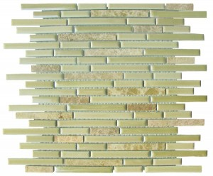Dawson Linear Brick Pattern Polished Mosaic Tile by Soci