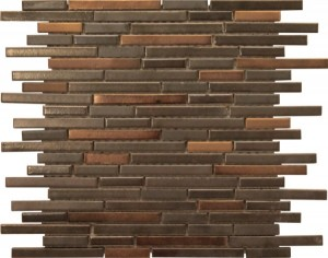 Sussex Linear Brick Pattern Polished Mosaic Tile by Soci