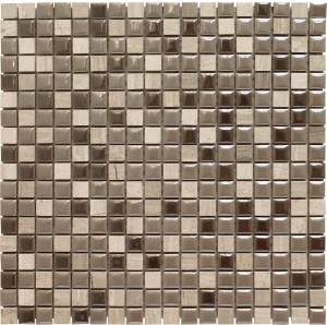 5/8 × 5/8 Zapata Blend Square Pattern Polished Mosaic Tile by Soci