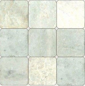 Ming Green Tumbled 4 in.x4 in. Marble Floor & Wall Tiles