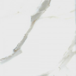 18 in. x 18 in. Italian Calacatta Gold Solid Polished Finish Marble Flooring Tile