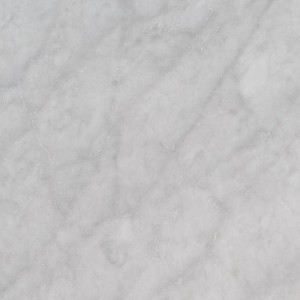 12 in. x 12 in. Italian White Carrara Solid Honed Finish Marble Flooring Tile