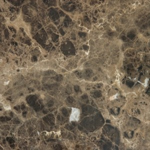 12 in. x 12 in. Emperador Dark Solid Polished Finish Marble Flooring Tile