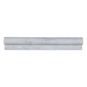 Greecian white marble 1x2x12 polished chair rail Molding trim