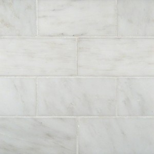 Greecian White Marble 3x6 Subway Pattern Polished Tile