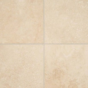 6x6 Tuscany Ivory Square Pattern Honed Travertine Tile