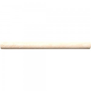3/4x12 Tuscany Classic Travertine Honed Decorative Bullnose Pencil Molding Tile