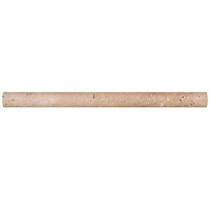 3/4 x 12 Tuscany Walnut Travertine Honed Decorative Bullnose Pencil Molding Tile