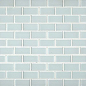 "1"" x 2"" Crystallized White Glass Mosaic Tiles"
