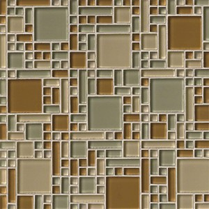 Mocha Cream Blend Versailles / Magic Pattern Glass Mosaic Tiles