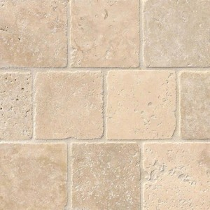 4x4 Tuscany Classic Travertine Tumbled Mosaic Tile