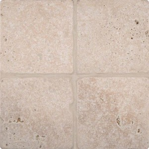 6x6 Tuscany Classic Field Travertine Tile in Tumbled Beige Ivory Finish Price/Sqft. ( 1 Sqft. = 4 Pcs)