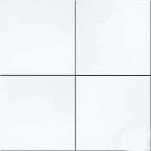 18 in. x 18 in. Thassos White Solid Honed Finish Marble Flooring Tile