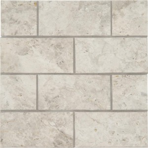 Tundra Grey 10 mm Thick 3 in. x 6 in. Polished Marble Subway Tile | Wall | Floor | Backsplash | Fireplace Surround | Countertop