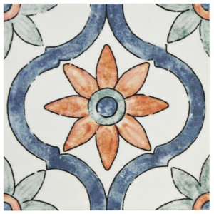 Bourges Glossy Multi Square 7-3/4 in. x 7-3/4 in.Arco Ceramic Wall Tile (10.76 sq. ft. / case)