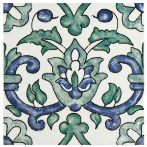 Bourges Glossy Multi Square 7-3/4 in. x 7-3/4 in.Gaia Ceramic Wall Tile (10.76 sq. ft. / case)