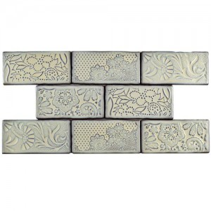 Carnival Glossy Grey Rectangular 3 in. x 6 in. Ceramic Wall Tile (1 sq. ft. / pack)