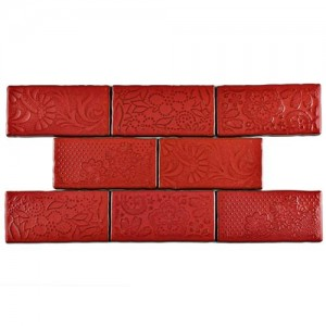 Carnival Glossy Ruby Rectangular 3 in. x 6 in. Ceramic Wall Tile (1 sq. ft. / pack)