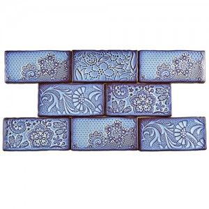 Carnival Glossy Cerulean Rectangular 3 in. x 6 in. Ceramic Wall Tile (1 sq. ft. / pack)