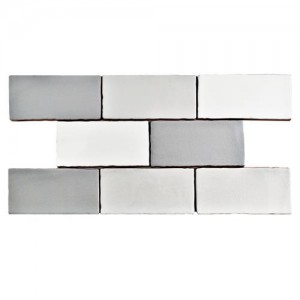 Carnival Glossy Grey-White Rectangular 3 in. x 6 in. Ceramic Wall Tile (4 sq. ft. / pack)