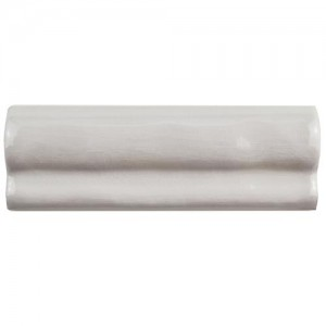 Carnival Glossy Salt Chair rail 2 in. x 6 in.Gris Oscuro Craquel Moldura Ceramic Wall Trim Tile