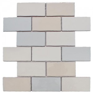 Carnival Glossy Mix Brick 3 in. x 6 in. Craquelle Ceramic Wall Tile (2 sq. ft. / pack)