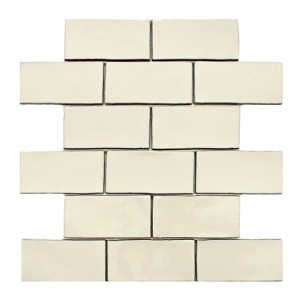 Carnival Glossy Ivory Brick 3 in. x 6 in. Craquelle Ceramic Wall Tile (2 sq. ft. / pack)