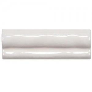 Carnival Glossy White Chair rail 2 in. x 6 in. Moldura Ceramic Wall Trim Tile