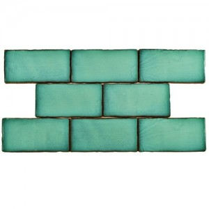 Carnival Matte Mint Rectangular 3 in. x 6 in. Ceramic Wall Tile (1 sq. ft. / pack)