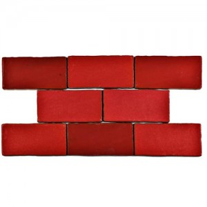 Carnival Glossy Crimson Rectangular 3 in. x 6 in. Ceramic Wall Tile (1 sq. ft. / pack)