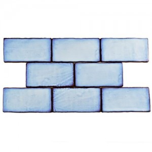 Carnival Matte Sapphire Rectangular 3 in. x 6 in. Ceramic Wall Tile (1 sq. ft. / pack)