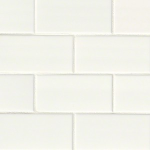 3 in.x 6 in.White Glossy Subway Ceramic Tile