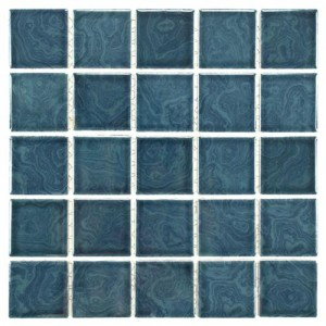 Aegean Glossy Square 12 in. x 12 in. x 5 mm Porcelain Mosaic Tile