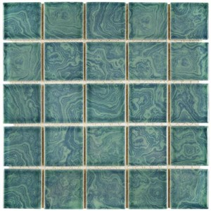 Ocean Glossy Square 12 in. x 12 in. x 5 mm Porcelain Floor and Wall Mosaic Tile