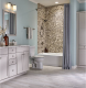 Serenity Stone Pebble Polished Marble Mosaic Tile