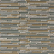 Multicolor Golden Fields Interlocking Quartzite 1/2 in. x Random Strip Mosaic