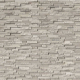 White Quarry Splitface Marble Mesh-Mounted Mosaic Tile